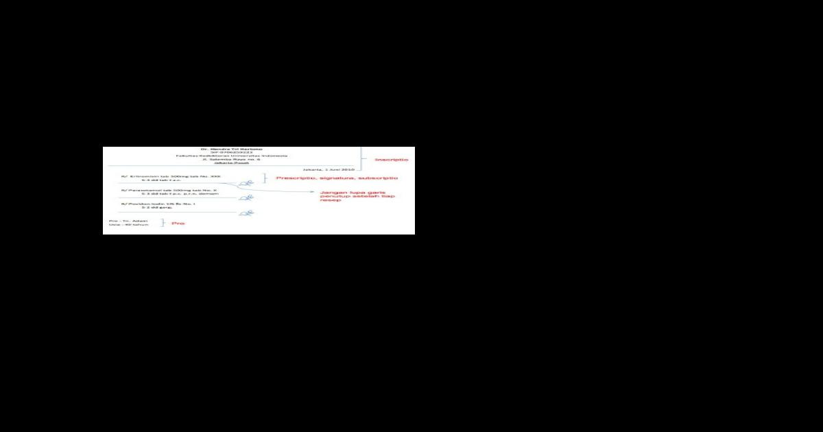 Panduan Ringkas Menulis Resep Dokter Docx Document