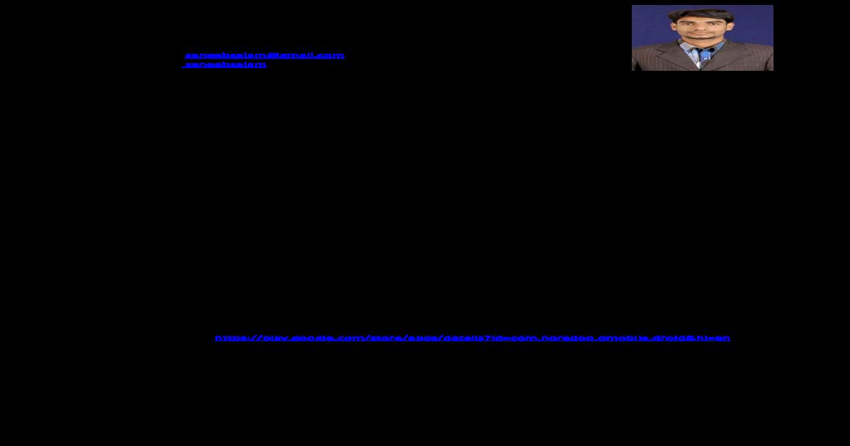 Saneeb CV - [PDF Document]