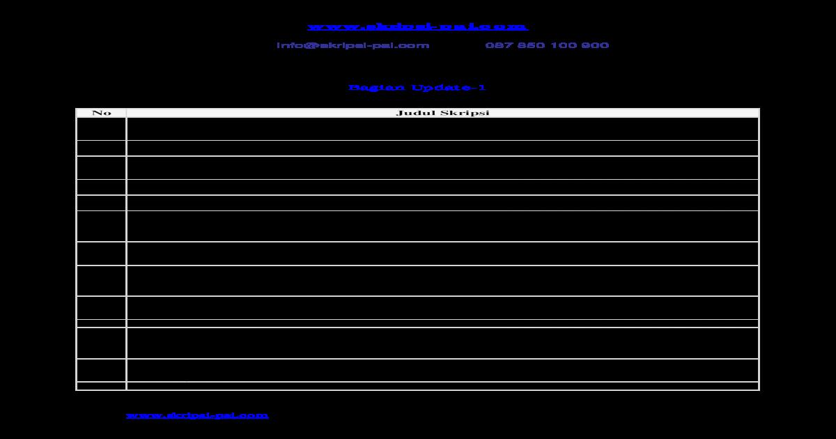 850 Judul Skripsi Skripsi Pdf Document