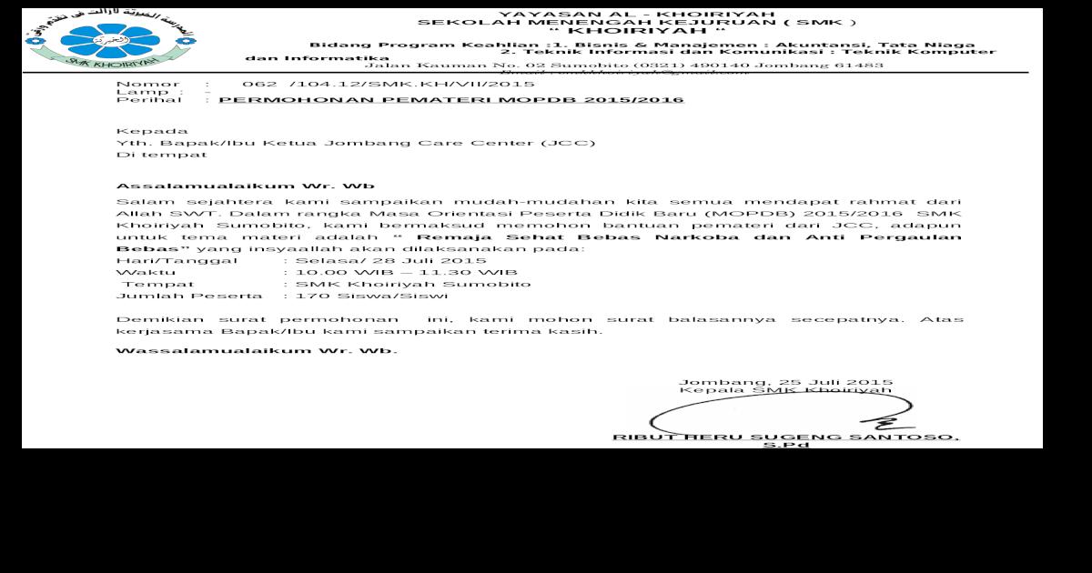 Surat Permohonan Jcc Doc Document