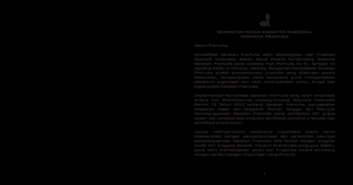 Petunjuk Penyelenggaraan Saka Pramuka Pdf Document