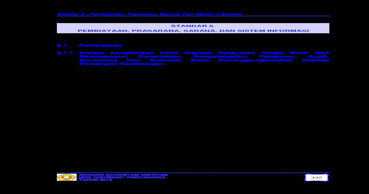 Standar 6 Pembiayaan Prasarana Sarana Dan Upnyk Ac Id Asset