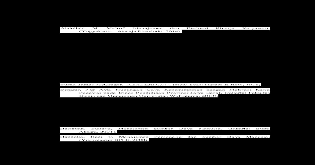 Daftar Terhadap Kinerja Karyawan Jurnal Analisis Hubungan