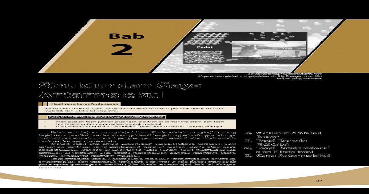 Struktur Dan Gaya Antarmolekul Nivitasya S Blog Nbsp Tetrahedral Adalah Limas Segiempat Dengan Muka Segitiga Sama Sisi 7 Oktahedral Oktahedral 30 Mudah Dan Aktif Belajar Pdf Document