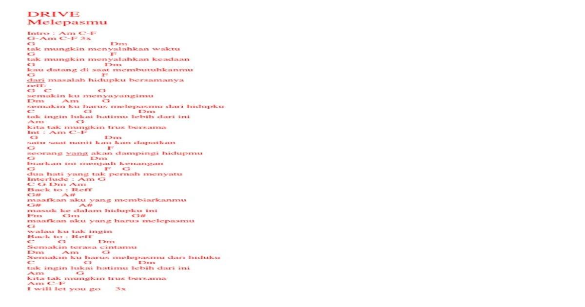 Chord Mudah Docx Pdf Document