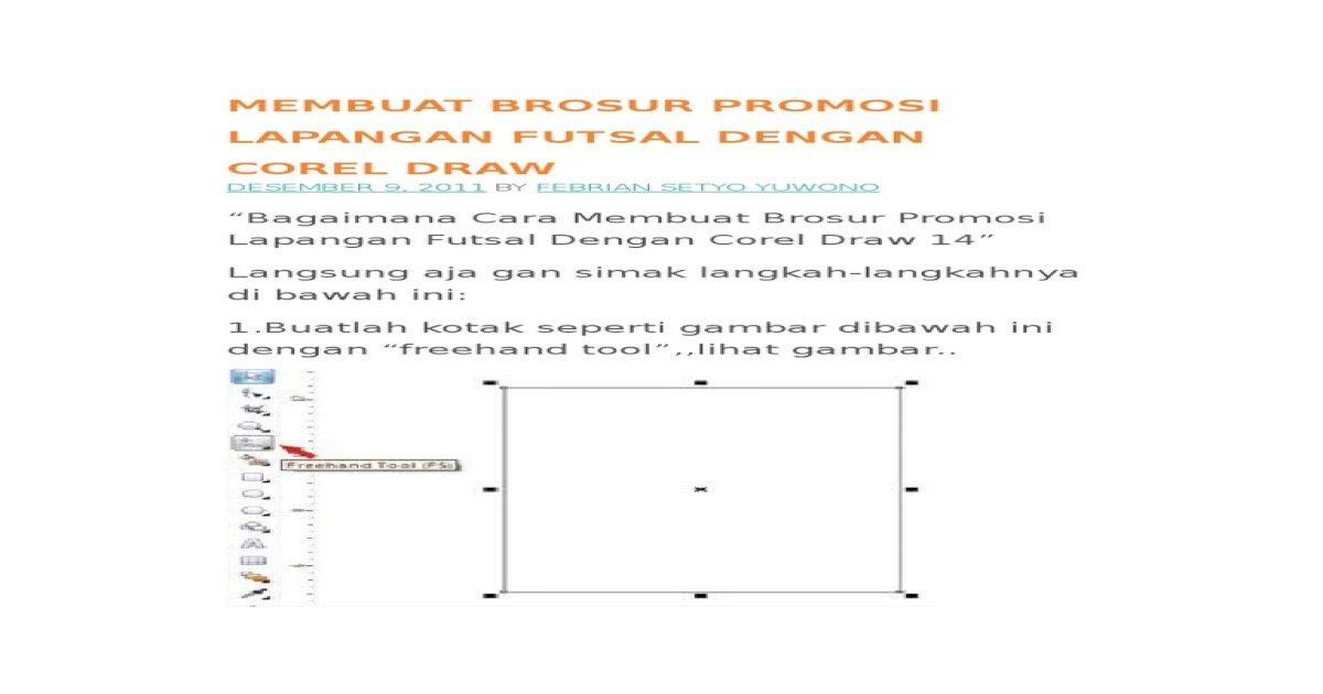 Membuat Brosur Promosi Lapangan Futsal Dengan Corel Draw Pdf Document