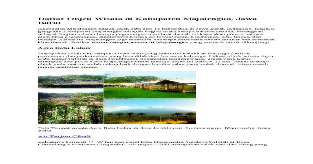 Wisata Majalengka Pdf Document
