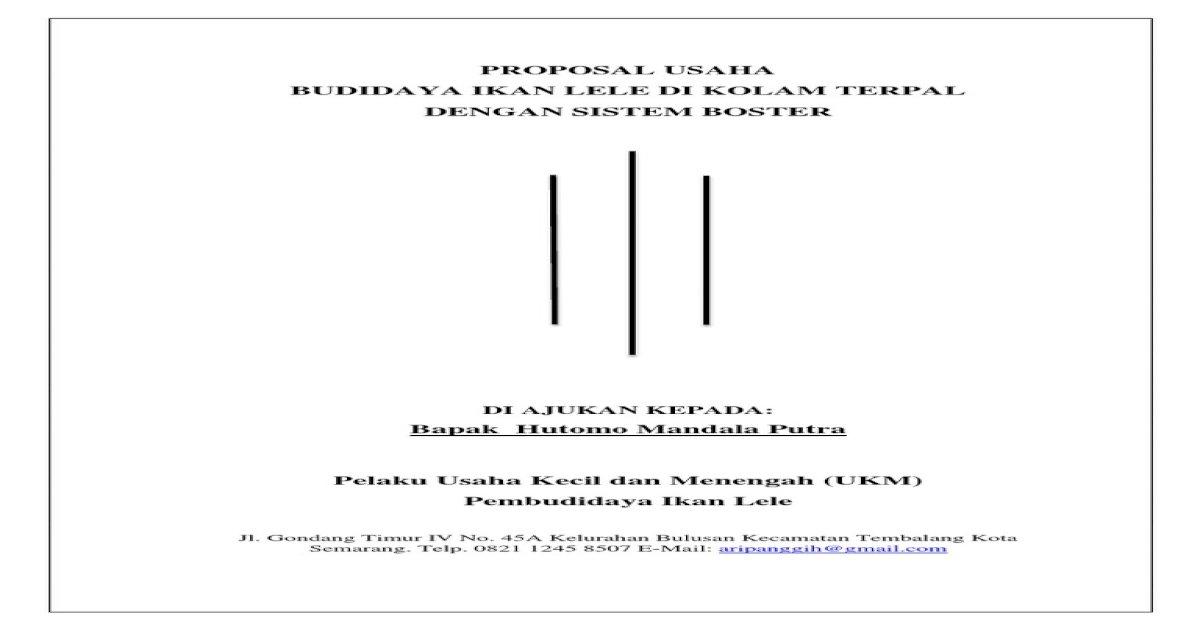 Proposal Usaha Budidaya Ikan Lele Di Kol Pdf Document