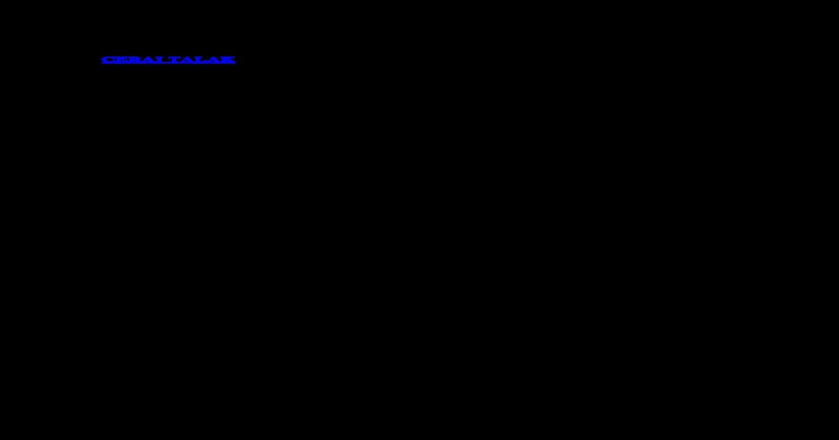 Contoh Surat Cerai Talakdocx Docx Document