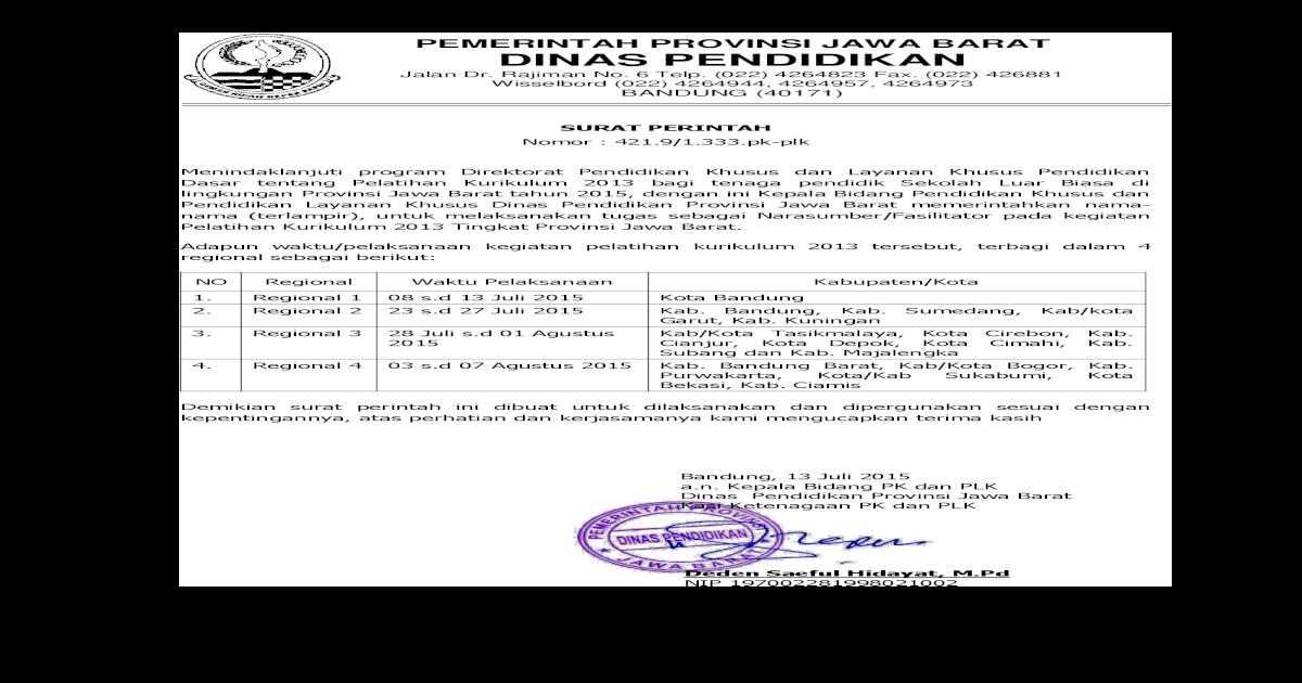 Pemerintah Provinsi Jawa Barat Dinas Tasikmalaya Kota