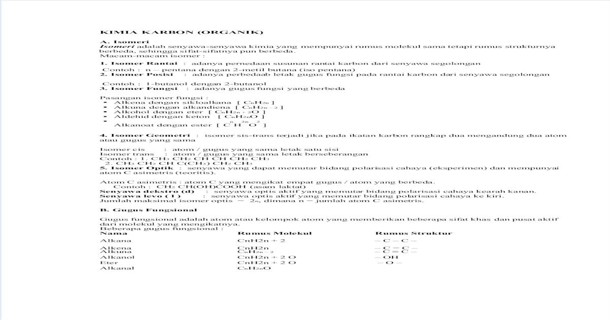 Soal Kimia Organik Biomolekul Pdf Document