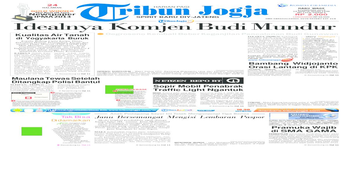 Tribunjogja 04 02 2015 Pdf Document