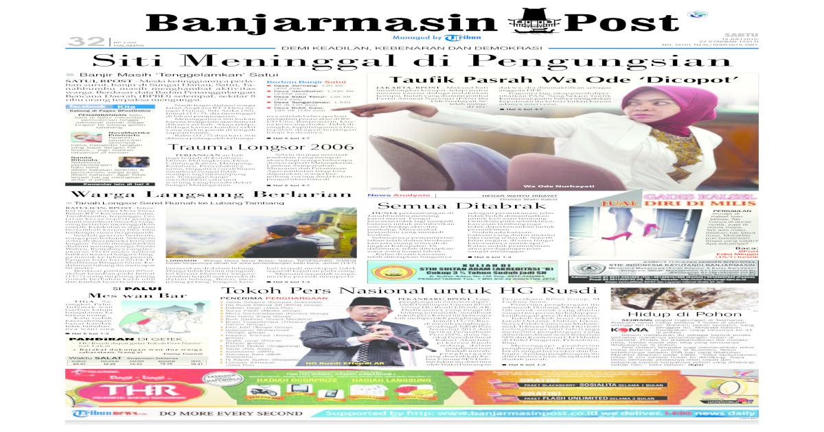 Banjarmasin Post edisi cetak Sabtu 14 Juli 2012 - [PDF Document]