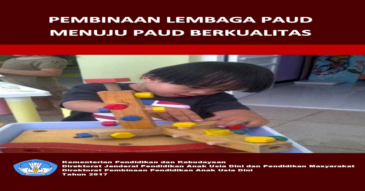 Direktorat Jenderal Pendidikan Anak Usia Dini Dan Pembinaan