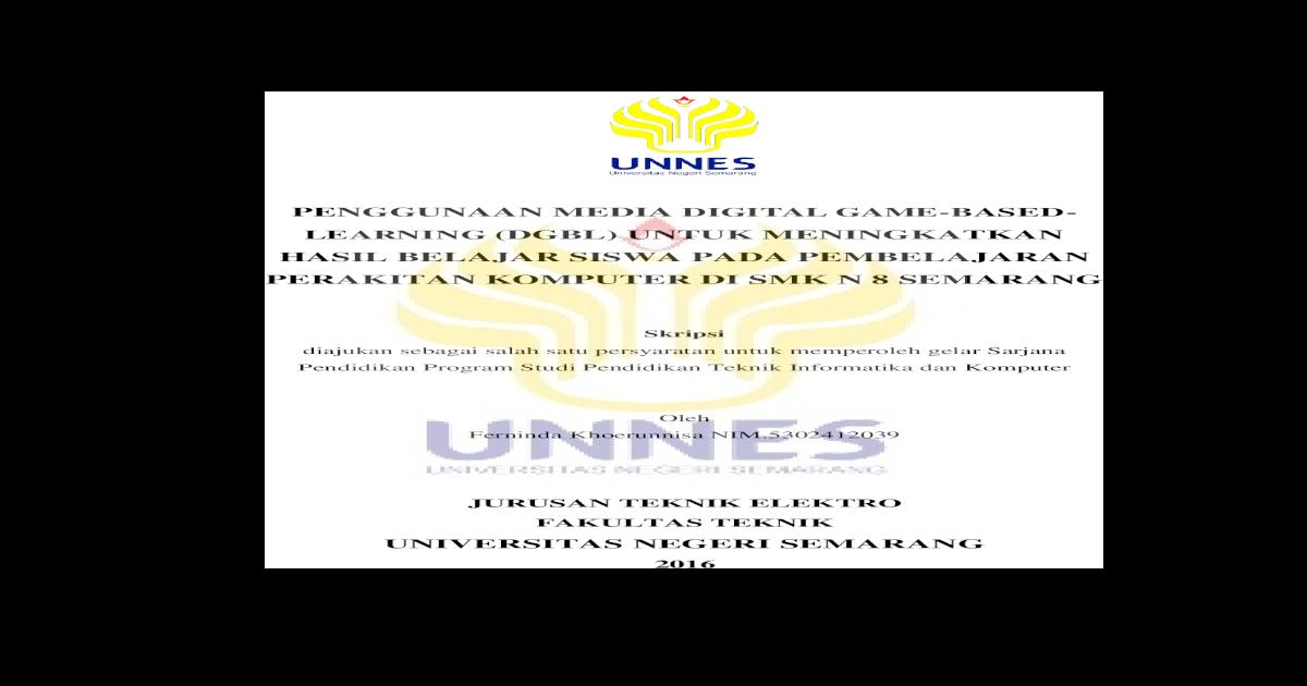 Penggunaan Media Digital Game Based Learning Lib Unnes Ac Id 28068 1 Pembelajaran Perakitan Komputer Pdf Document