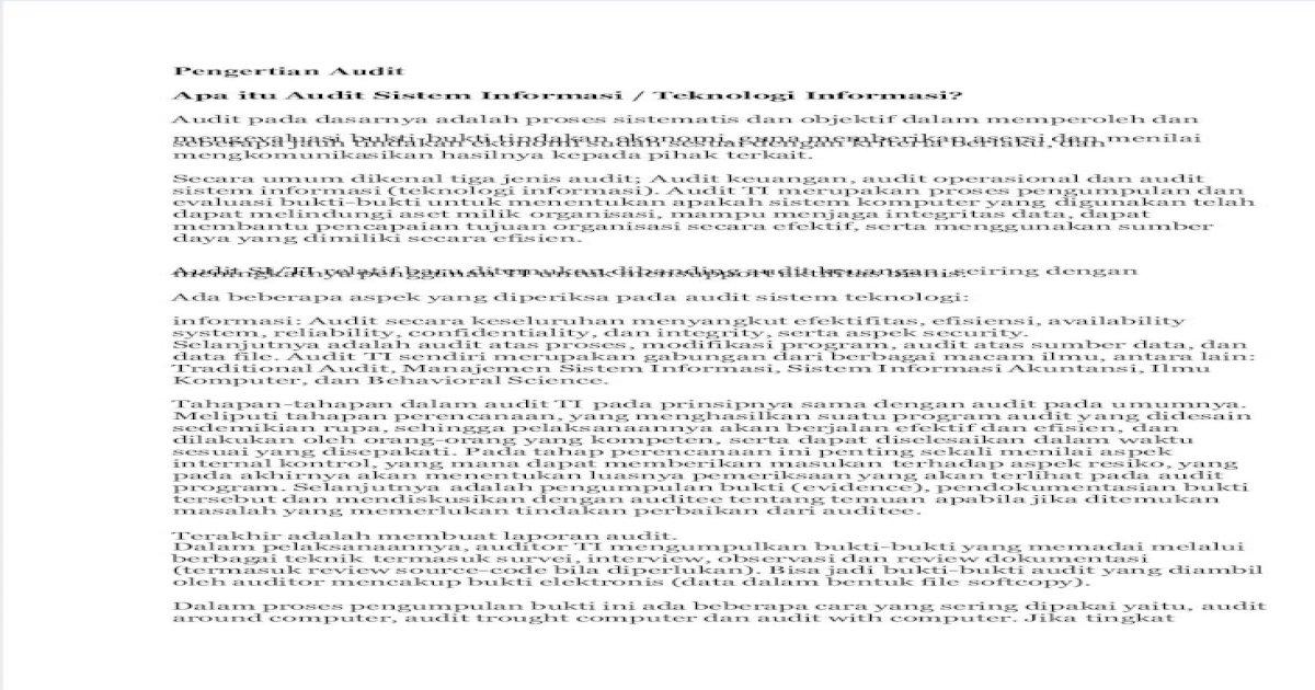 Pengertian Audit Pdf Document