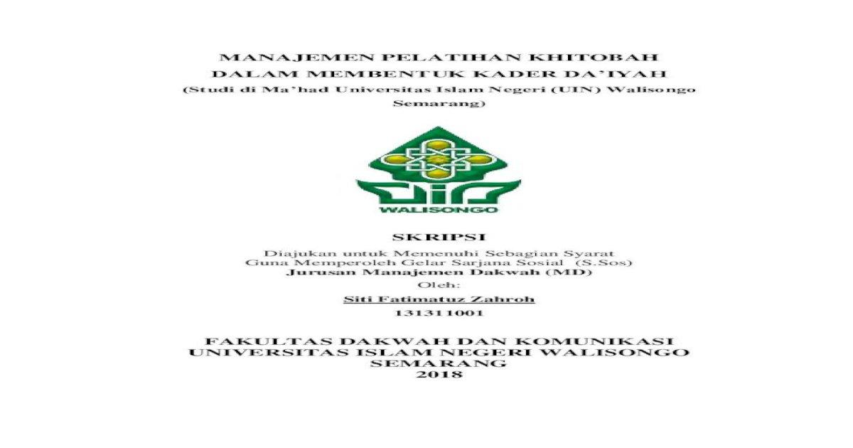 Fakultas Dakwah Dan Komunikasi Universitas Skripsi Pdf5 Bapak Dan
