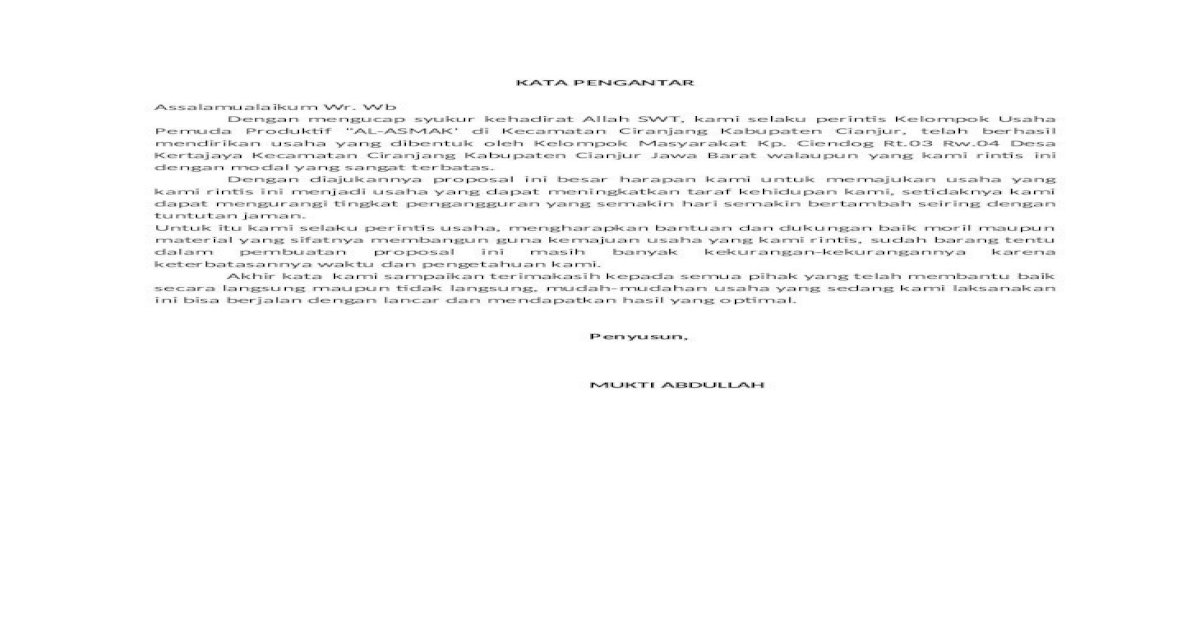 Proposal Pengajuan Dana Usaha Ternak Lele Doc Pigura