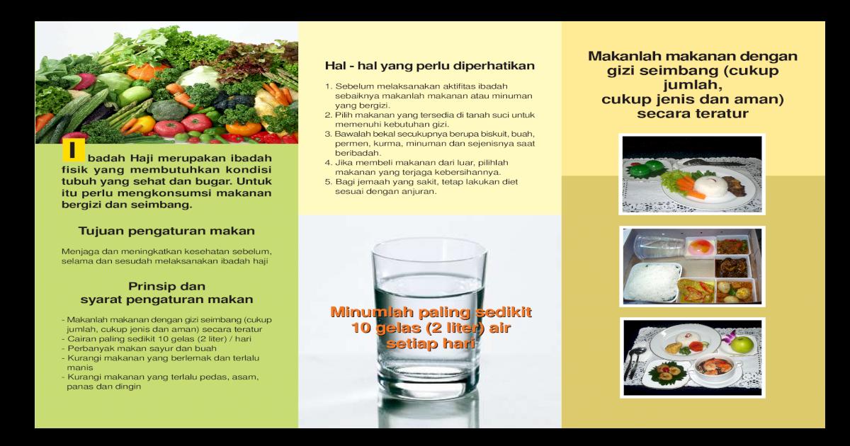 Brosur Tips Dan Makanan Sehat Haji Gizi Dan Artikel Brosur Tips Dan Jenis Makanan Yang Dapat Pdf Document