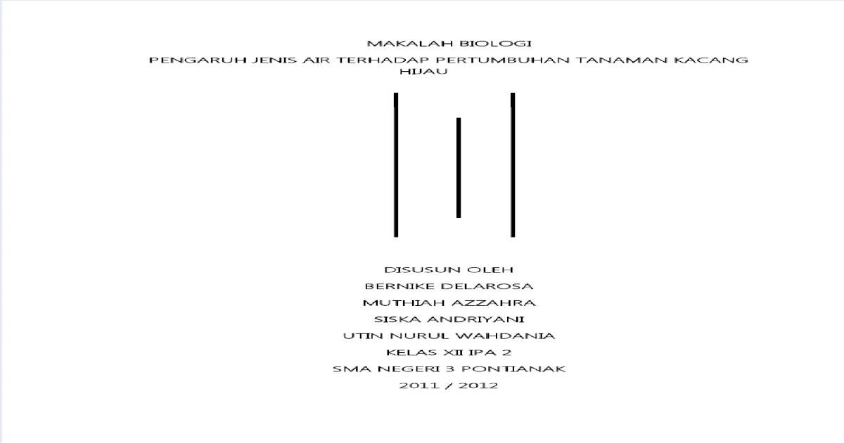 Makalah Biologi Pertumbuhan Kacang Hijau Pdf Document
