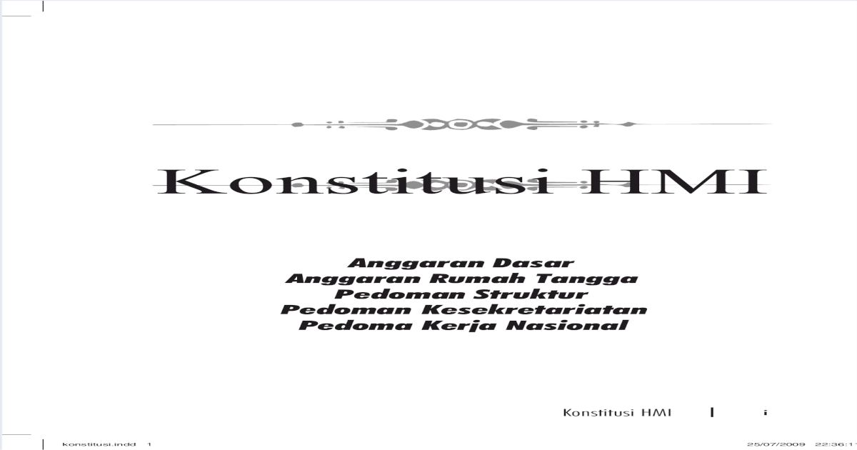 Konstitusi Hmi Pdf Document