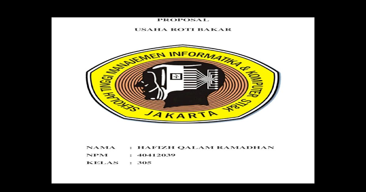 Contoh Proposal Usaha Roti Bakar DJ - DOCX Document