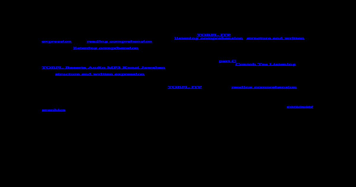 179120373 Soal Tes Toefl Dan Pembahasan Jawaban Docx Pdf Document