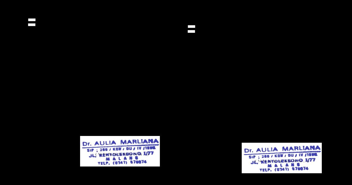 Surat Dokter Aulia Marliana Doc Document