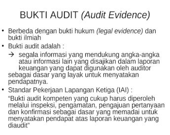 Bab 4 Bukti Audit Test Transaksi Ppt Powerpoint