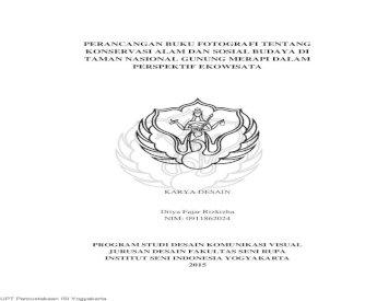 Perancangan Buku Fotografi Tentang Konservasi 1 Pdf Perancangan Buku Fotografi Tentang Konservasi Pdf Document